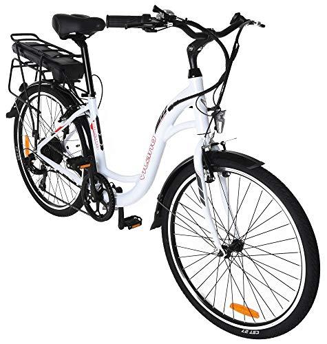 Vilano Pulse Women's Electric Commuter Bike - 26-Inch Wheels, 2019 Step Through