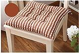 KongEU Sitzkissen 40 x 40 cm - Stuhlkissen mit Bändern Griff zur Befestigung am Stuhl - Polyester -...