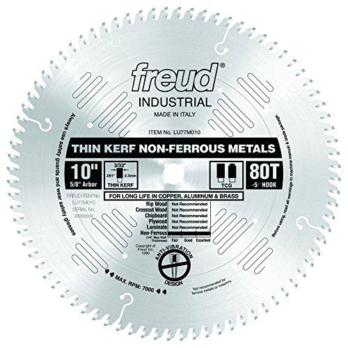 Freud LU77M010 10-Inch 80 Tooth Metal Cutting Blade