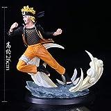 AMrjzr 1-T Club Naruto Tsume Ultimate Storm Naruto VS Sasuke Battle Statue Boxed Figure-Altezza: 26