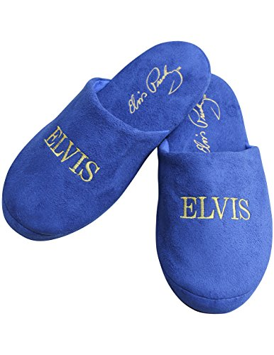 Midsouth Products Elvis Presley Slippers Blue Suede Shoes - One Size Fits Most