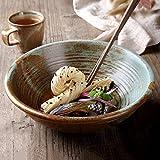 xxw Tazón de Fideos instantáneos para el hogar de Estilo japonés Tazón de Ramen Creativo De cerámica Retro Tazón Grande Personalidad Gran tazón de Sopa Tazón de Verduras
