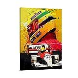 Ayrton Senna Legend F1 Leinwand Kunst Poster und Wandkunst