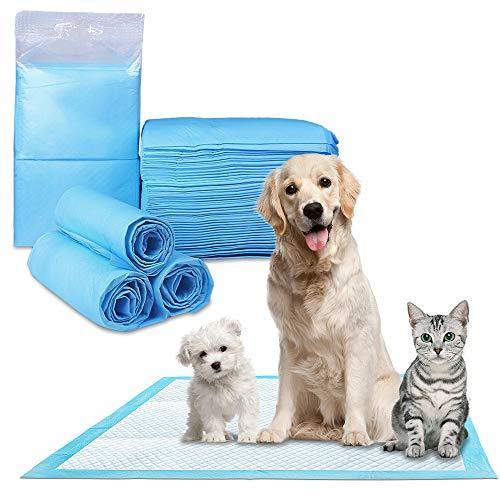 Phiraggit Pet Training Pads, più spessi e pesanti assorbenti Pet Training Puppy Pee Pad per cani di taglia piccola e media, gatti, conigli e altri animali domestici da addestramento, 50 pezzi(45x60cm)