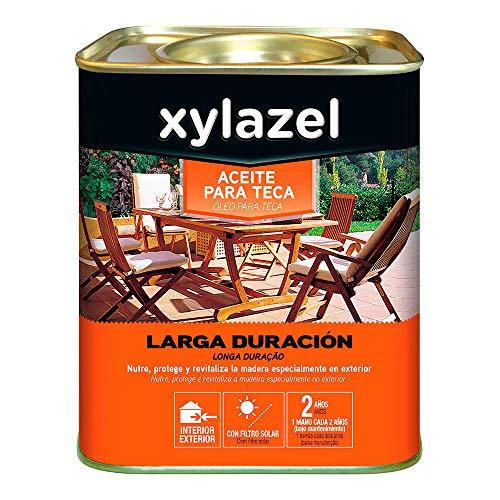 XYLAZEL 25580 Aceite para Teca Larga Duración, Varios Colores, 0.750 L
