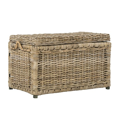 wicker trunk coffee table - 5
