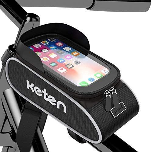 Keten Bike Phone Front Frame Bag Waterproof Bicycle Phone Mount Holder Top Tube Handlebar Bag product image