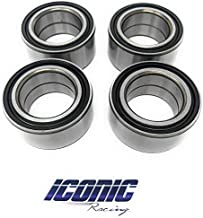 Iconic Racing Both Front and Rear Wheel Bearings Compatible with Polaris RZR 800 800S 2010-2014
