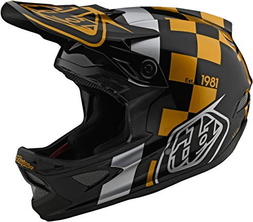Troy Lee Designs D3 Raceshop Downhill Helm Schwarz/Gold XL