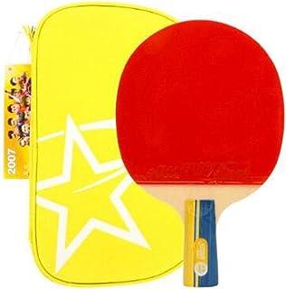 HCXD 両面ロング粘着防止卓球バット、ペンホールド、攻撃的および防御的、卓球バットとの組み合わせ、シングルショット、2スター、3スター ピンポンパドル4の (Design : 2 stars, Edition : A)