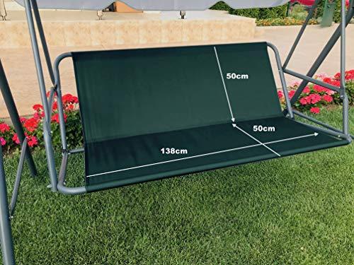 Ersatz-Schaukelsitzbezug für Hollywoodschaukel, Sitzbezug für Gartenstuhl, für den Außenbereich, 138 x 50 x 50 cm, Grün