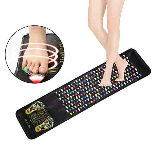 Groust Fußreflexzonenmatte, Stimulation Der Fußreflexzonen, Fördert Die Durchblutung, Entspannung Und Regeneration, Kieselstein-Imitate, Überall Anzuwenden, Hygienisch Und Pflegeleicht 1,8 M X0.35m