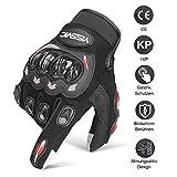Yissvic Motorrad Handschuhe Motorradhandschuhe Touchscreen Sport Handschuhe für Motorrad Radfahren...