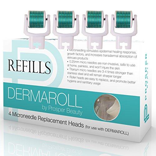 Prosper Beauty Lot de 4 recharges pour rouleau Dermaroll 0,25 mm