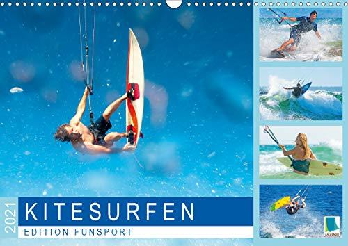 Edition Funsport: Kitesurfen (Wandkalender 2021 DIN A3 quer)