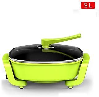 Xyanzi dianzhuguo Cocina Eléctrica En Casa con Olla Caliente Eléctrica De 5L. Recubrimiento Antiadherente Fácil De Limpiar. (Color : Green)