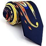 Shlax&Wing Mode Einzigartig Herren Seide Krawatte Gelb Mehrfarbig Blumen Extra lang