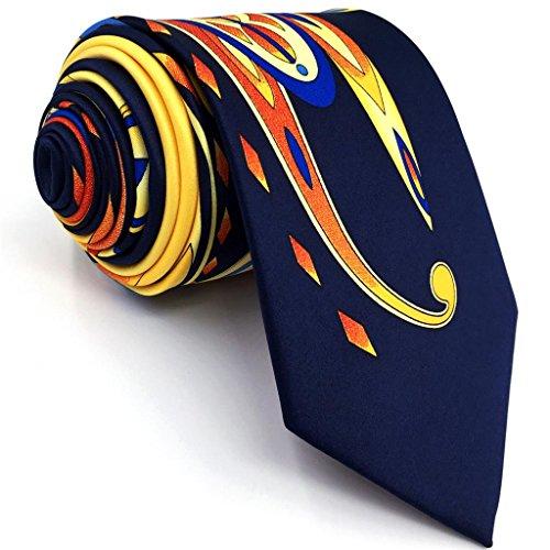 Shlax&Wing La Moda único Hombre Seda Corbatas Para Amarillo Multicolor Floral Extra largo