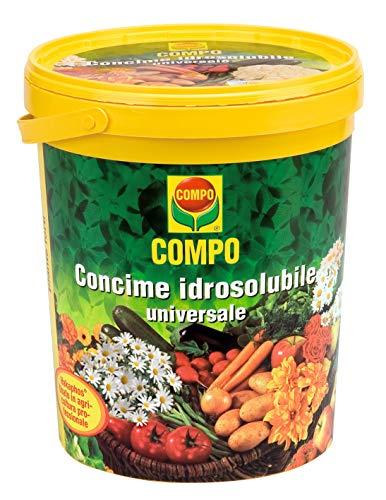 COMPO Concime Idrosolubile Universale, Per Piante dell'Orto, del Giardino, da Balcone e per Tappeti Erbosi, Con cucchiaio dosatore, 1,2 kg