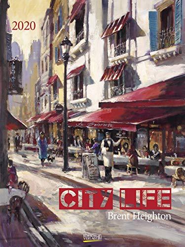 City Life 2020: Großer Kunstkalender. Hochwertiger Wandkalender mit Meisterwerken von Brent Heighton. Kunst Gallery Format: 48 x 64 cm, Foliendeckblatt