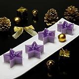 Teelichter Stern Kerzen Markenkerzen sternförmig violett lila 12 Stk.