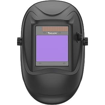 "TOOLIOM Welding Helmet True Color Auto Darkening 1/1/1/2 Large View 3.94""x 3.27"" Battery Powered Welding Mask with Weld/Grind/Cut Mode"