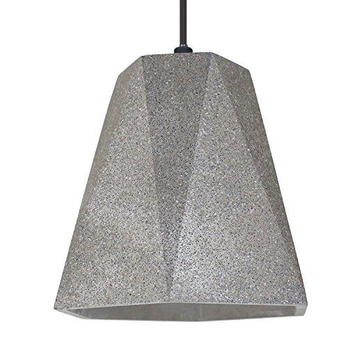 Lampada in cemento Lampada a sospensione LED E27 Lampada a sospensione CHICAGO (colore: cemento-scuro) Lampada industriale vintage Lampada da soggiorno moderna presa in cemento - senza lampadine