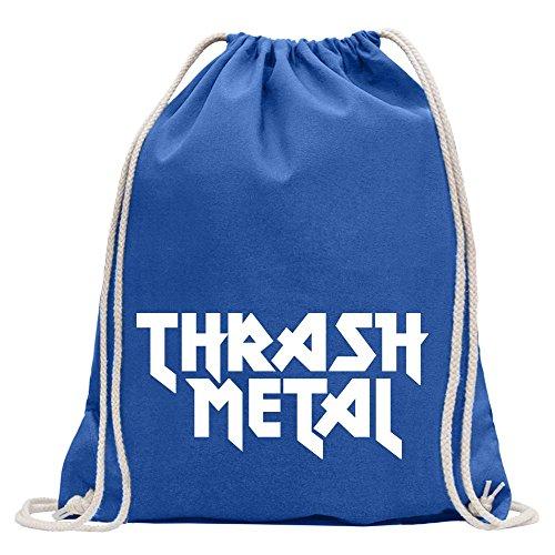 Kiwistar Hardcore Thrash Metal Guitarra Heavy Metal Divertido Mochila Deportiva para el Fitness Gimnasio de Compras de algodón con cordón, Unisex Adulto, Reale, 37 x 46cm