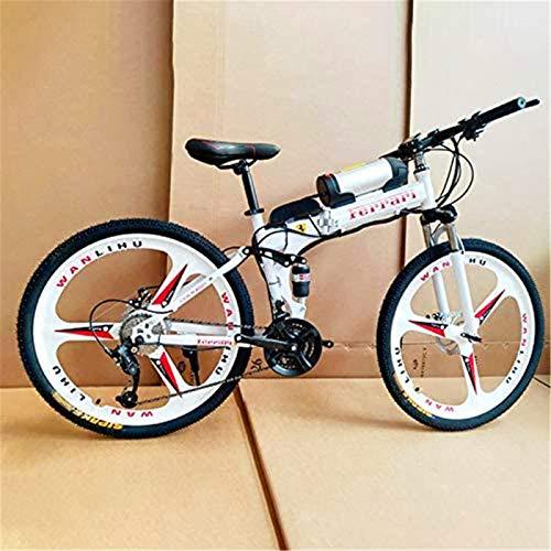 Bici elettrica, Biciclette elettriche per adulti, 360w in lega di alluminio Ebike Bicycle rimovibile 36 V / 8AH Batteria agli ioni di litio Mountain bike / Commute Ebik Batteria al litio Beach Cruiser