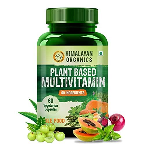Himalayan Organics Plant Based Multivitamin (60+ Ingredients) for Immunity, Energy, Stamina and Vitality – 60 Veg Capsules
