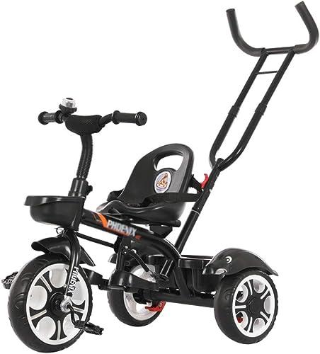 mejor calidad Xing Xing Xing Hua Home Sillas de Paseo Bicicleta Desmontable de Triciclo para Niños Niños y niñas de 1-6 años Bicicleta de Tres Ruedas multifunción Puede empujarse (Color   negro, Talla   86  48(84-108) cm)  n ° 1 en línea