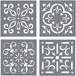 mexican tile designs stencil
