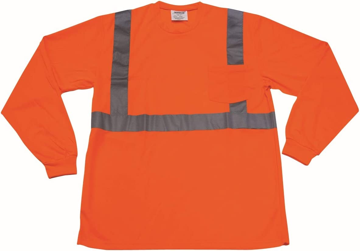 Sales of SALE items from new works Super popular specialty store Ironwear 1835-O-9-6XL ANSI Class 2 Sleeve Crew Long Polyester Ne