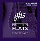 GHS Strings, 5-String Bass Precision Flats, Stainless Steel Flatwound, 37.25' Winding, Medium (.045.126) (M3050-5)