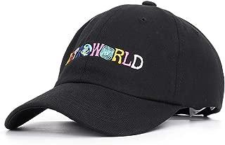 Wxtreme Fashion Summer Sun Hat 100% Cotton Baseball Caps Travis Scott Unisex Dad Hat Cap Embroidery Man Women Summer Hat Outdoor Sunshade Hats (Color : Black, Size : One Size)