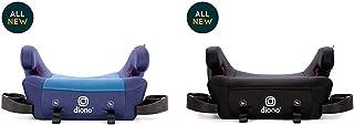 Diono Solana 2 Backless Booster Seat Bundle, Blue & Black (2-Pack)