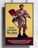 IFUNEW Cuadro de Arte de Pared The Jerk Movie Steve Martin Carl Reiner Póster Artístico Decoración del hogar 60x90cm
