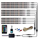 Leeleberd 12PCS Motorcycle RGB LED Strip Lights kit, Multi-Color Accent Glow Neon LED Atmosphere Lamp Strips...