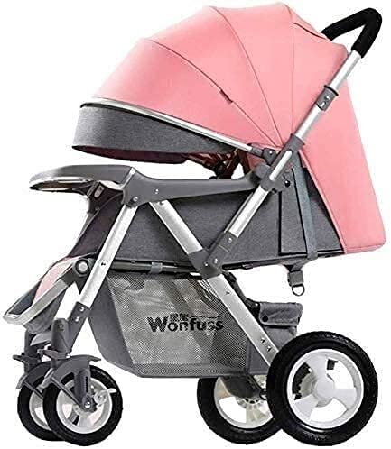 TANKKWEQ Baby Strollers Two Way Compact Travel Baby Buggies/Prams - Raincover/Windproof Warm Foot Cover/Five-Point Harness