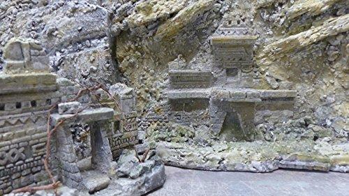 MAYA Terrarien Set, Terrarium Deko Themen Rückwand - 8