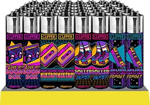 Clipper® aanstekers - Retro Wave #5506-set van 4