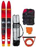 JOBE - Skis nautiques combo Allegre rouge - 59' 2016 59'
