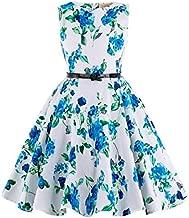 Kid's Floral Vintage Dresses for Mother&Child Tea Party 7~8Yrs K250-3