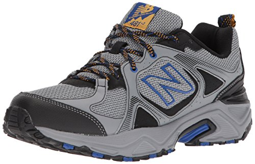 New Balance Men's 481 V3 Trail Running Shoe, Steel/Black, 12 XW US