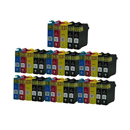 ZYL - Cartuchos de tinta de repuesto compatibles con Epson 18XL XP-215 XP-315 XP-312 XP-425 XP-205 XP-212 XP-30 XP-302 XP-415 XP-102 XP-202 XP-412 XP-313 XP-413 XP-212 XP-33 XP-225 (35 x 7 + 7 unidades), color negro