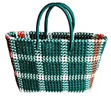SHOPPY DROPPY Handmade Reusable Multipurpose Washable Plastic Wire Grocery Bag (26CM Lx26CMBx9CMW)(Medium)