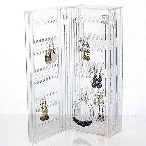 Ohrringständer Faltbare Ohrringe Aufbewahrung Ohrringhalter Transparent Schmuckständer Kettenständer Ketten Aufbewahrung Schmuckaufbewahrung für Stecker Acryl Geschenke für Frauen Mädchen