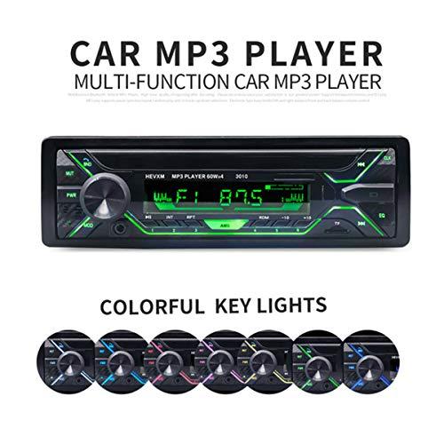 GOFORJUMP Nouveau 3010 Bluetooth Voiture Lecteur MP3 Simple Voiture din Audio stéréo 12V Bluetooth au Tableau de Bord FM 1 Voiture de Voiture Aux MP3 Player Voiture