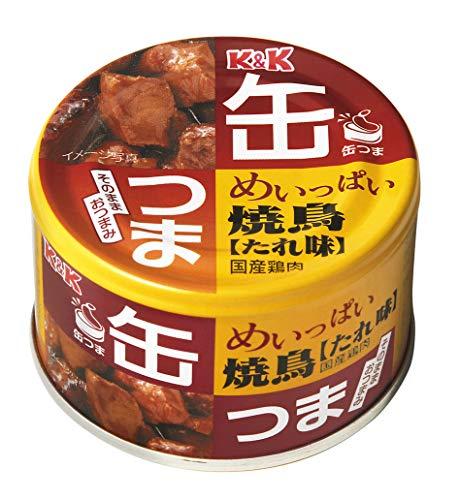 K&K 缶つま めいっぱい 焼鳥 たれ 135g×6個