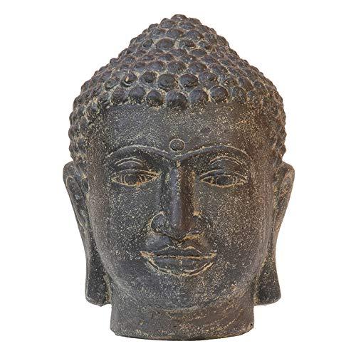 STONE art & more Buddha-Kopf, 32 cm, Steinfigur, Steinguss, frostfest